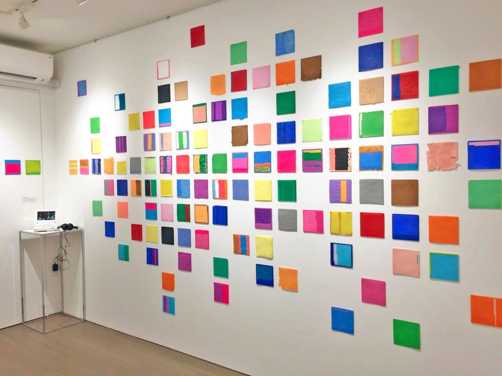 土谷紘加展−COLORNY拡張する色の粒子− 2017/展示風景
